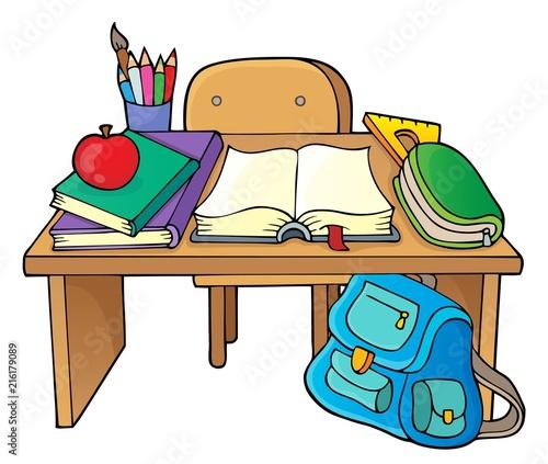 Canvas Voor kinderen School desk theme image 1