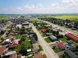 Aerial view of American small rural town