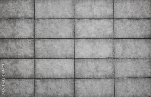 Foto Spatwand Betonbehang cement slab of tiles, abstract gray concrete background