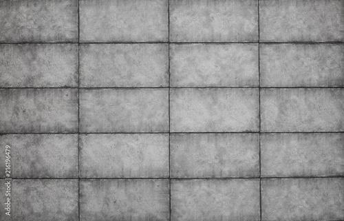 In de dag Betonbehang cement slab of tiles, abstract gray concrete background