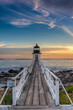 Sunset Lit Walkway to Marshall Point Lighthouse