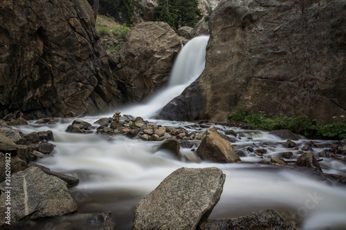 Waterfall in the Boulder Canyon in Colorado - 216209822