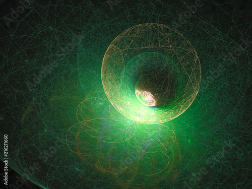 abstract fractal digital background design