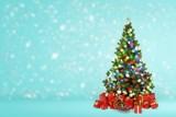 Beautiful Christmas Tree on background