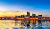 Hungarian Parliament Building by Morning Light - 216237481