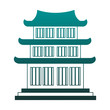 Chinese temple symbol vector illustration graphic design