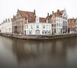 Bruges Spiegelrei On Misty Day