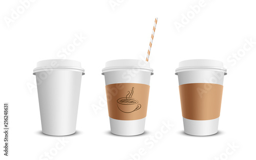 Wall mural Paper coffee cup