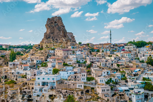 colorful village of Ortahisar Kalesi Castle Cappadocia Turkey - 216251491