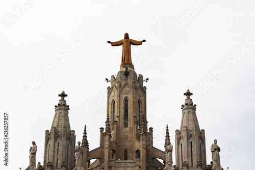 Aluminium Barcelona Expiatory Church of the Sacred Heart of Jesus, Tibidabo mountain, Barcelona