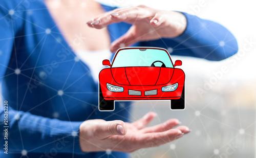 Concept of car transport