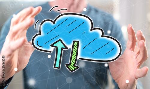 Foto Murales Concept of cloud networking