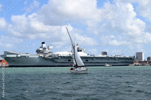 sailing air craft carrier