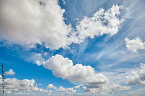 Foto Murales Picture of a beautiful cloudscape on a sunny day.