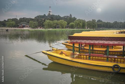 Plexiglas Peking Beihai Park is an imperial garden