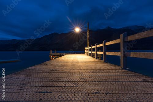 Acrylglas Pier Glenorchy Jetty Lamp Post