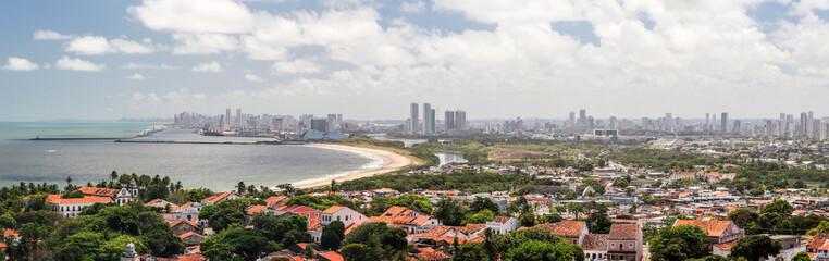 Panoramic Image of Recife, View from the Se, Olinda, Pernambuco © Sergio Rocha