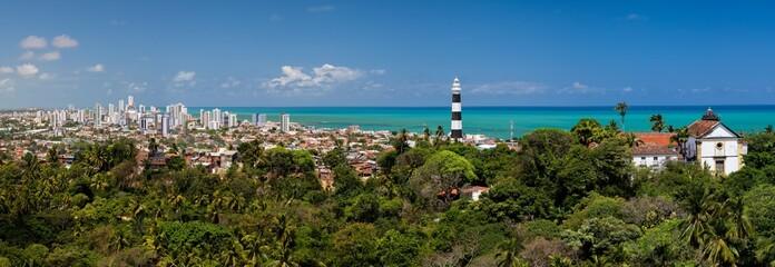 Panoramic Image of Olinda, View from the Se, Pernambuco © Sergio Rocha