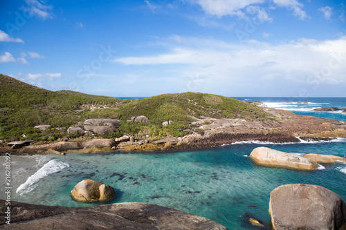 blue ocean, beautiful plance and amazin beach, elephant rock  in albany Australia