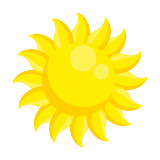 summer sun isolated icon - 216290470