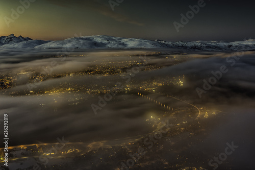 Tromso city lights