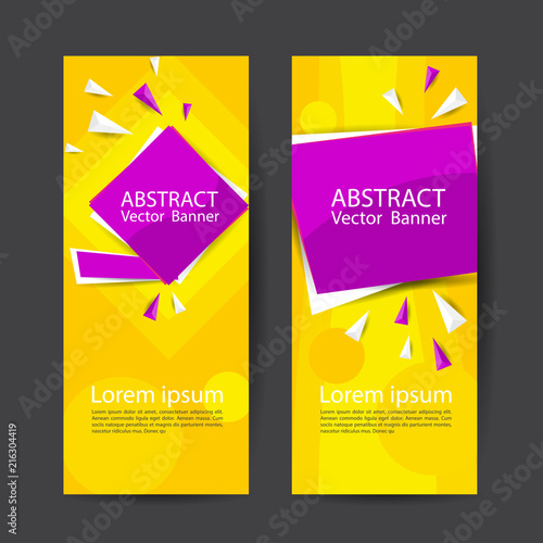 Sticker Vector abstract design banner template.Perfect background design for headline and sale banner.
