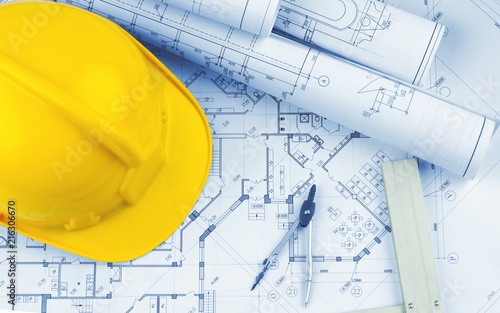 Blueprints and a hardhat