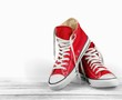 Quadro Pair of new red sneakers