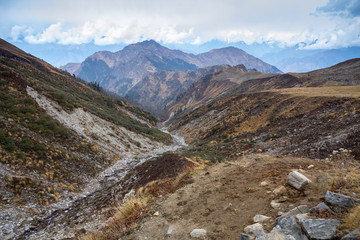 High mountain views: Kuari Pass, Curzon's Trail, Garhwal Himalayas, India