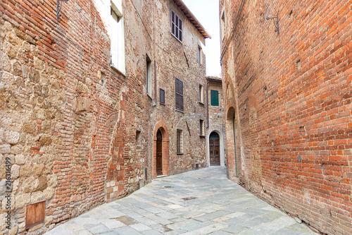 Fototapeta Street of Montepulciano, Tuscany