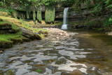 View of Askrigg Waterfall in the Yorkshire Dales National Park