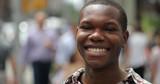 Man in city happy smile face portrait - 216327881