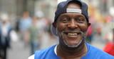 Mature man in city smile happy face portrait - 216327897