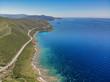 Quadro sorvolando la Corsica