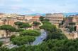 Quadro Rome cityscape, Via dei fori imperiali and Colosseum