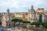 The Church of the Most Holy Name of Mary and the famous Trajan's Column, Rome, Italy
