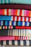 Traditional Basque fabric with color stripes