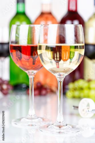 White wine in a glass alcohol drink grapes portrait format