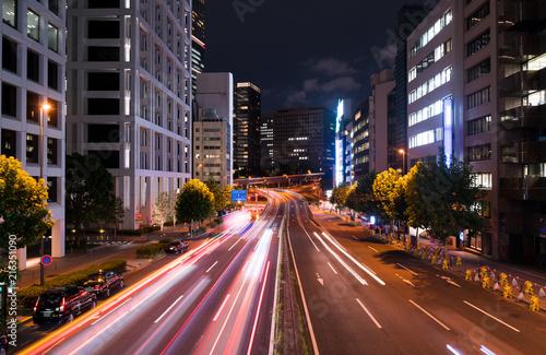 Fotobehang Tokio 東京夜景・赤坂 青山通り
