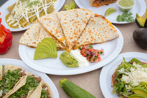Assorted fresh Mexican food  - 216354040