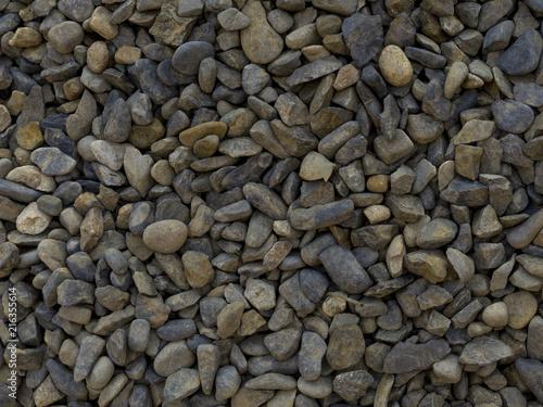 Aluminium Stenen Suelo de piedras secas en verano