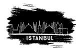 Istanbul Turkey City Skyline Silhouette. Hand Drawn Sketch. - 216358678