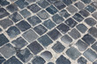 Quadro Worn old cobblestone paving stones in Rome, image captrued just outside the Vatican Museum