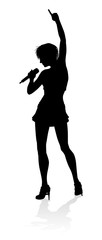Singer Pop Country or Rock Star Silhouette Woman © Christos Georghiou
