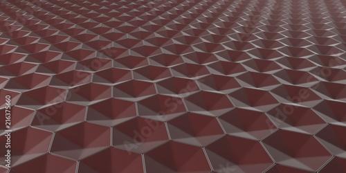 3D Geometric Abstract Hexagonal Wallpaper Background - 216375660