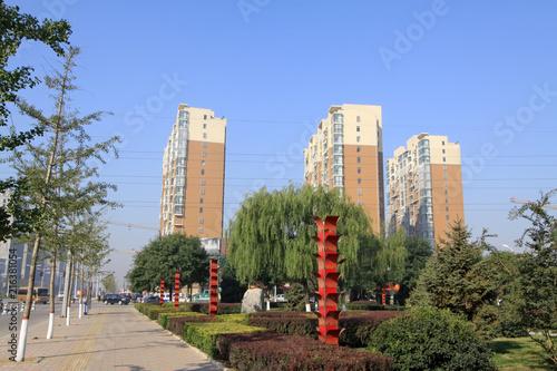 street landscape in a city