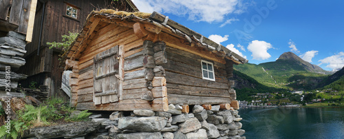 old fisherman's cottage , Geiranger, Norway - 216381611