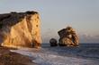 Leinwanddruck Bild - Felsen der Aphrodite im Abendlicht, Zypern