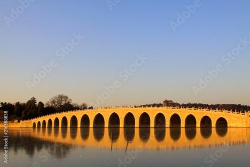 Plexiglas Peking Seventeen Holes Bridge scene