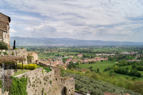 Fotobehang Toscane Panorama toscano